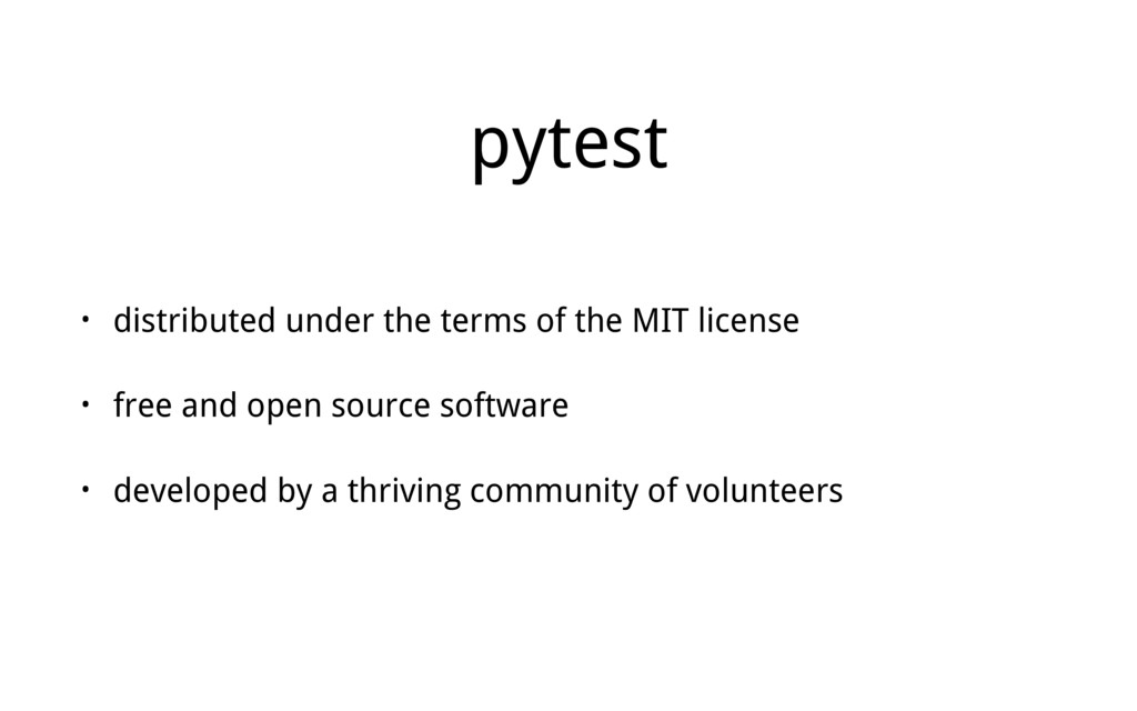pytest • distributed under the terms of the MIT...