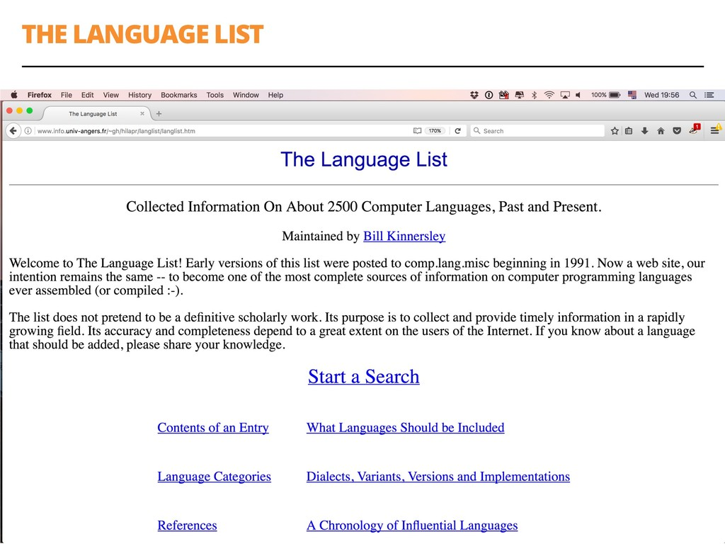 THE LANGUAGE LIST 20
