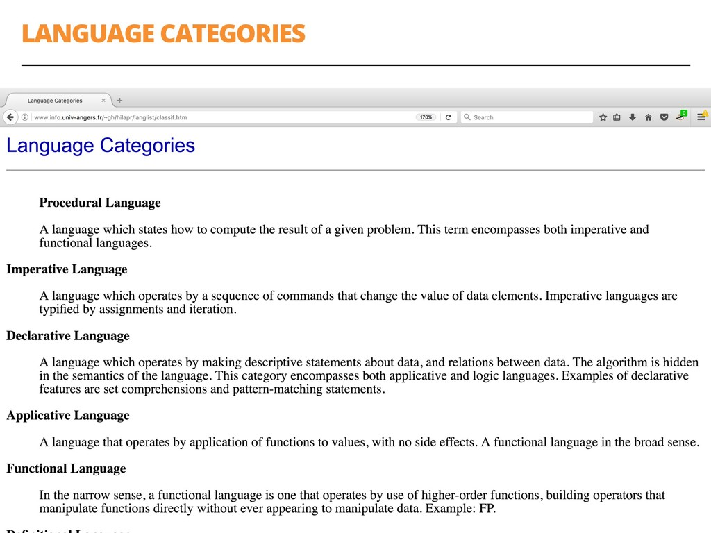 LANGUAGE CATEGORIES 22
