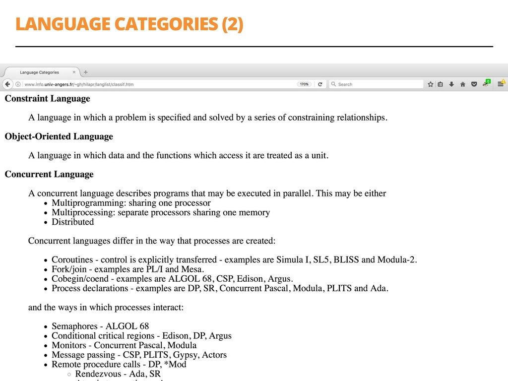 LANGUAGE CATEGORIES (2) 23