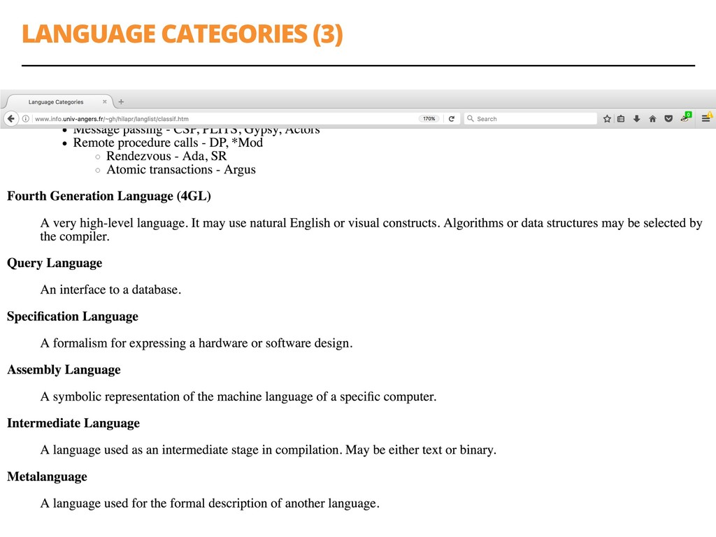 LANGUAGE CATEGORIES (3) 24