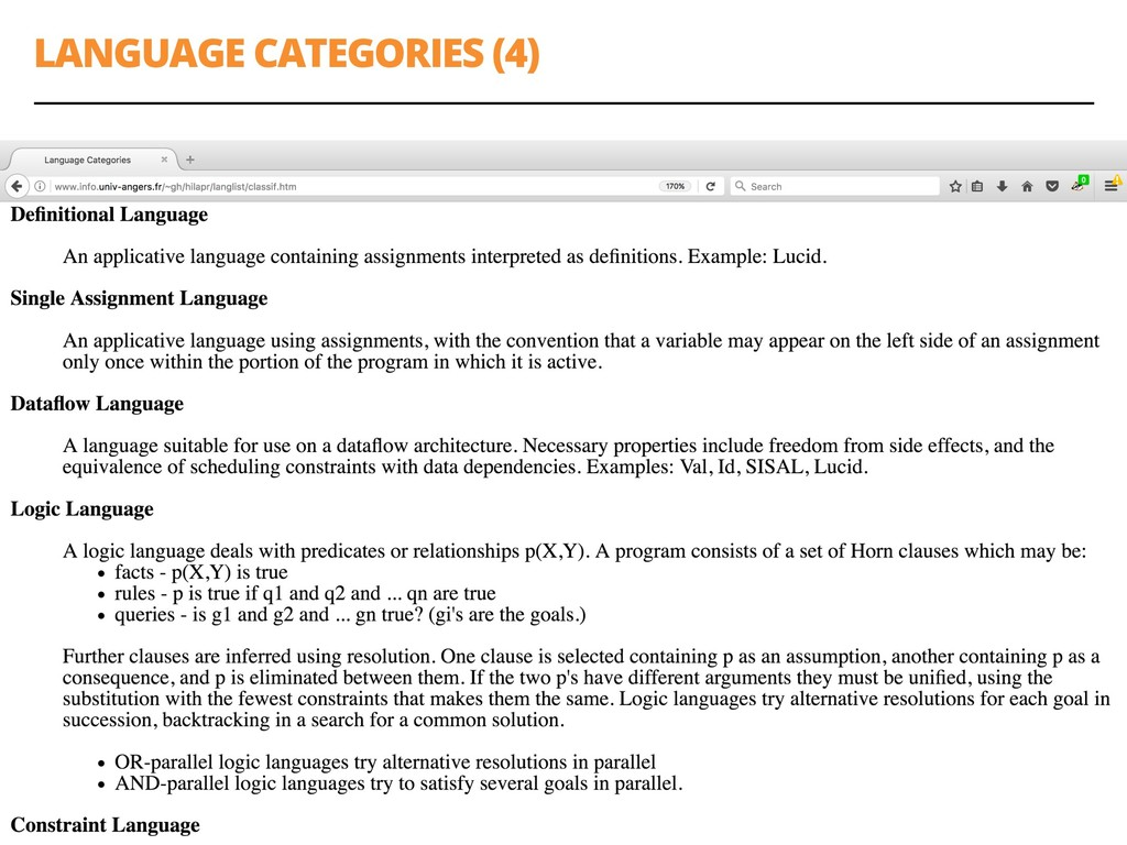 LANGUAGE CATEGORIES (4) 25