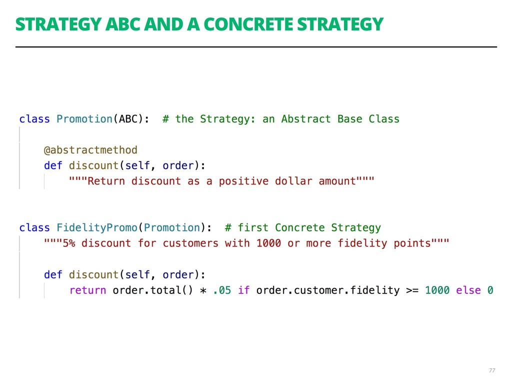 STRATEGY ABC AND A CONCRETE STRATEGY 77