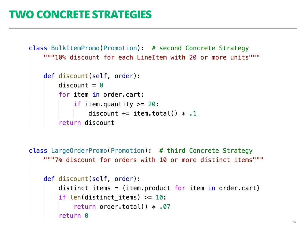 TWO CONCRETE STRATEGIES 78
