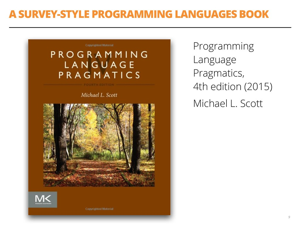 A SURVEY-STYLE PROGRAMMING LANGUAGES BOOK Progr...