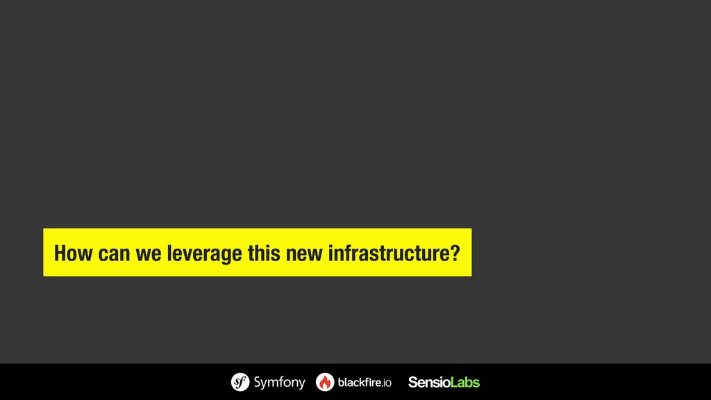 How can we leverage this new infrastructure?