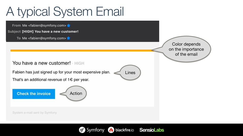 A typical System Email Color depends