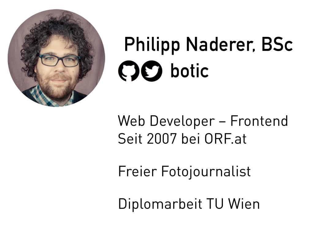 botic Philipp Naderer, BSc Web Developer – Fron...