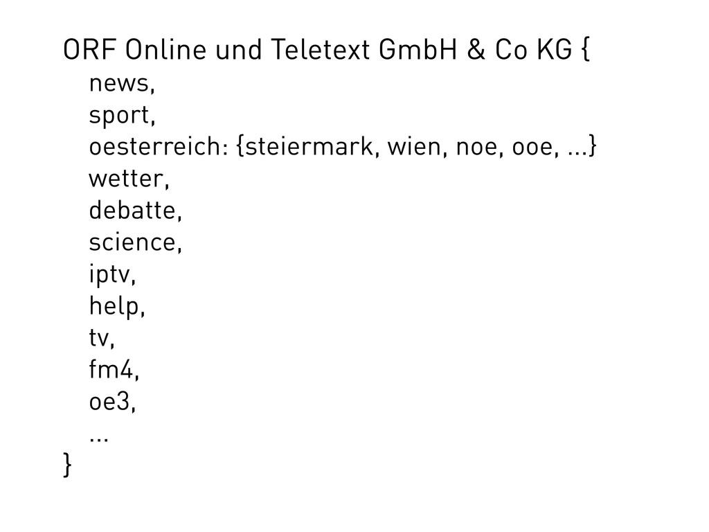 ORF Online und Teletext GmbH & Co KG { news, sp...