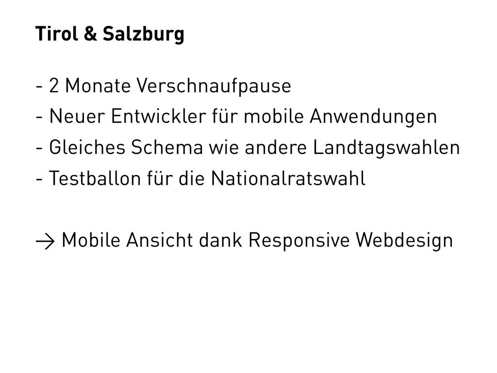Tirol & Salzburg - 2 Monate Verschnaufpause - N...
