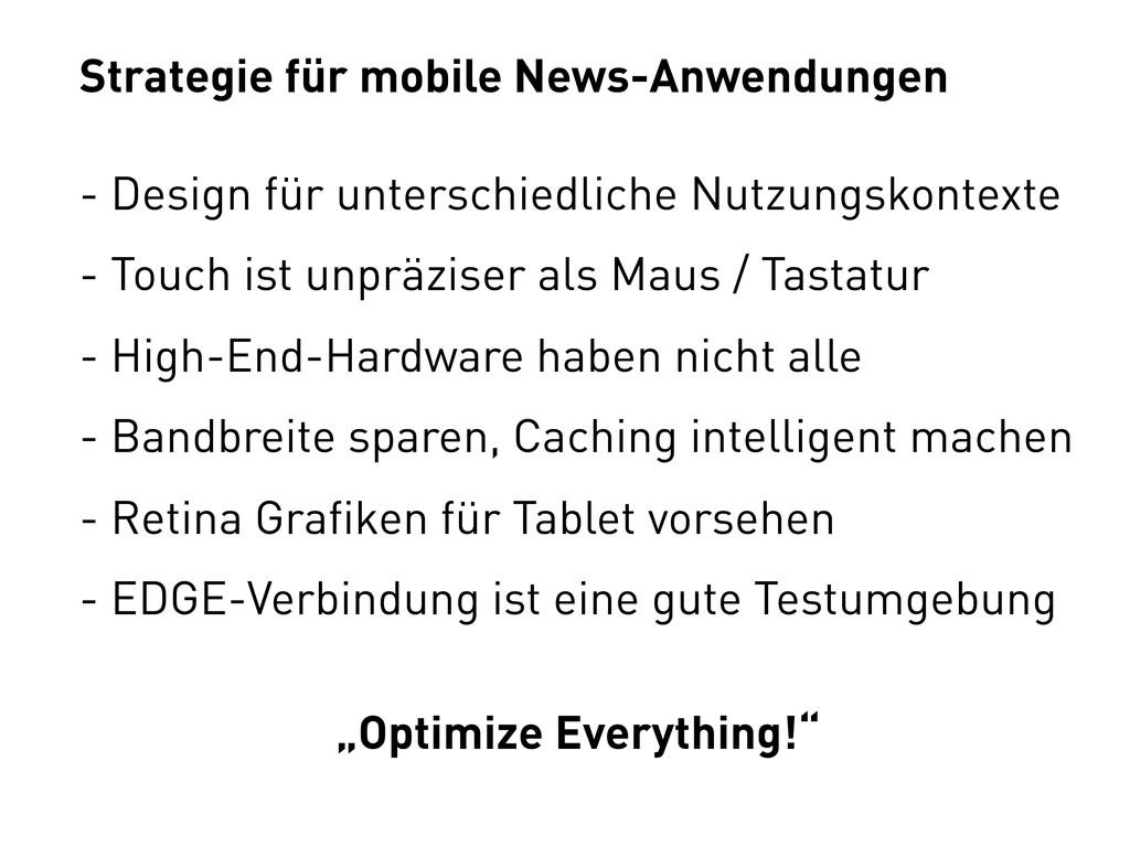 Strategie für mobile News-Anwendungen - Design ...