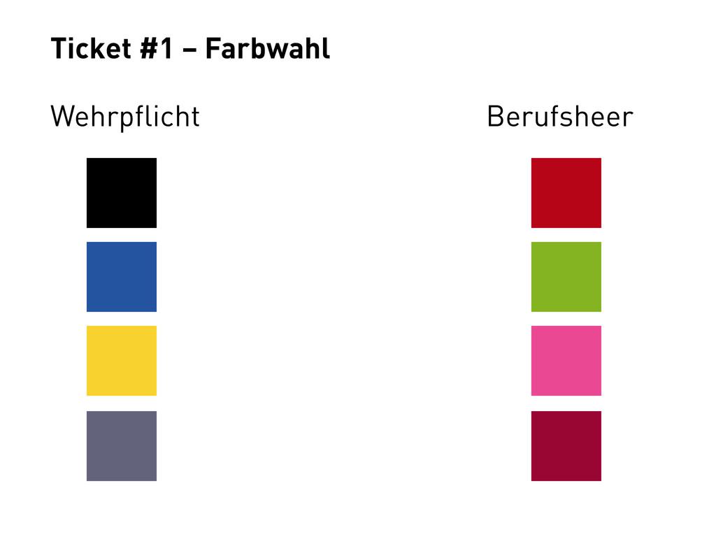 Ticket #1 – Farbwahl Wehrpflicht Berufsheer