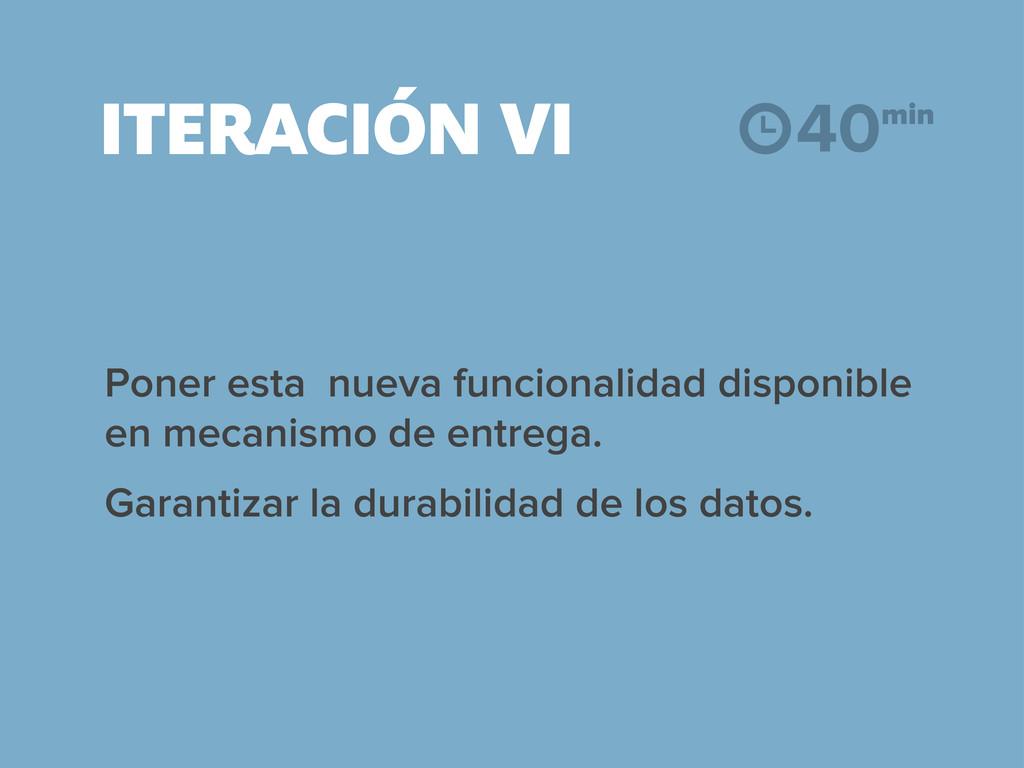 ITERACIÓN VI Poner esta nueva funcionalidad dis...