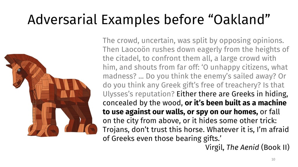 "Adversarial Examples before ""Oakland"" 10 The cr..."