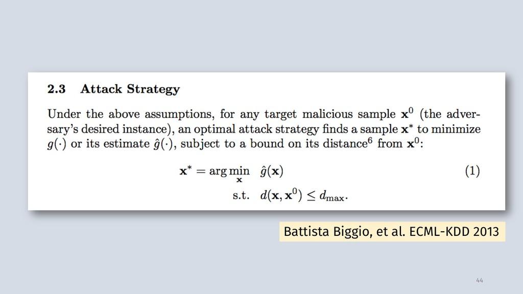44 Battista Biggio, et al. ECML-KDD 2013