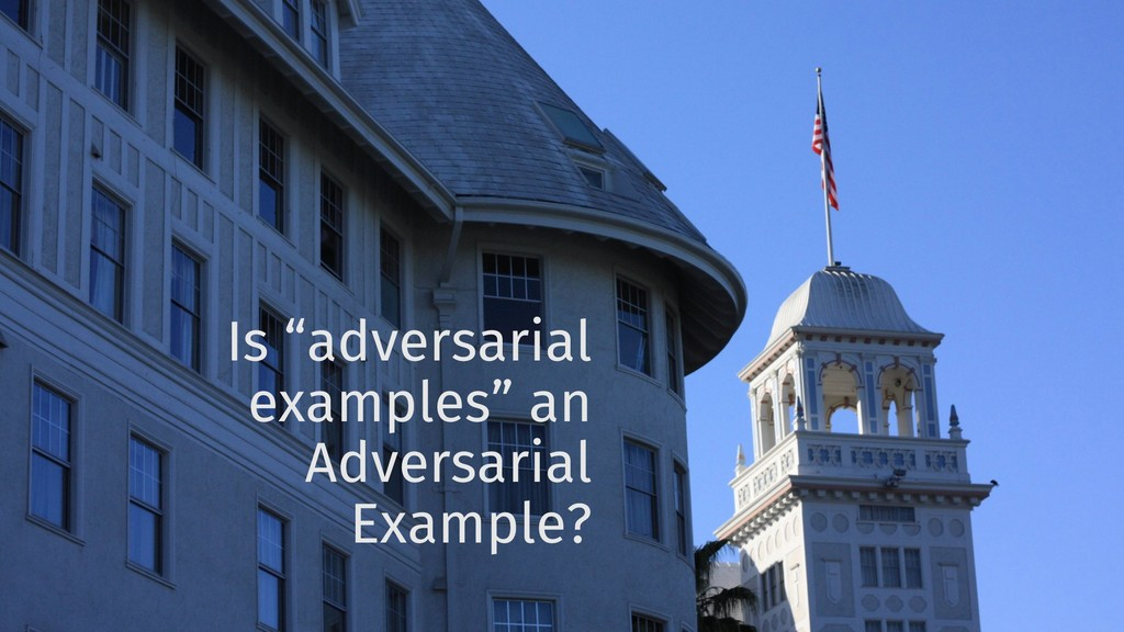 "Is ""adversarial examples"" an Adversarial Exampl..."