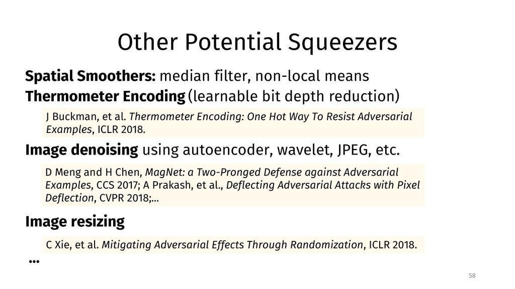 Other Potential Squeezers 58 C Xie, et al. Miti...
