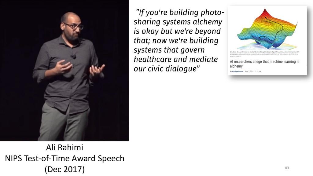 83 Ali Rahimi NIPS Test-of-Time Award Speech (D...