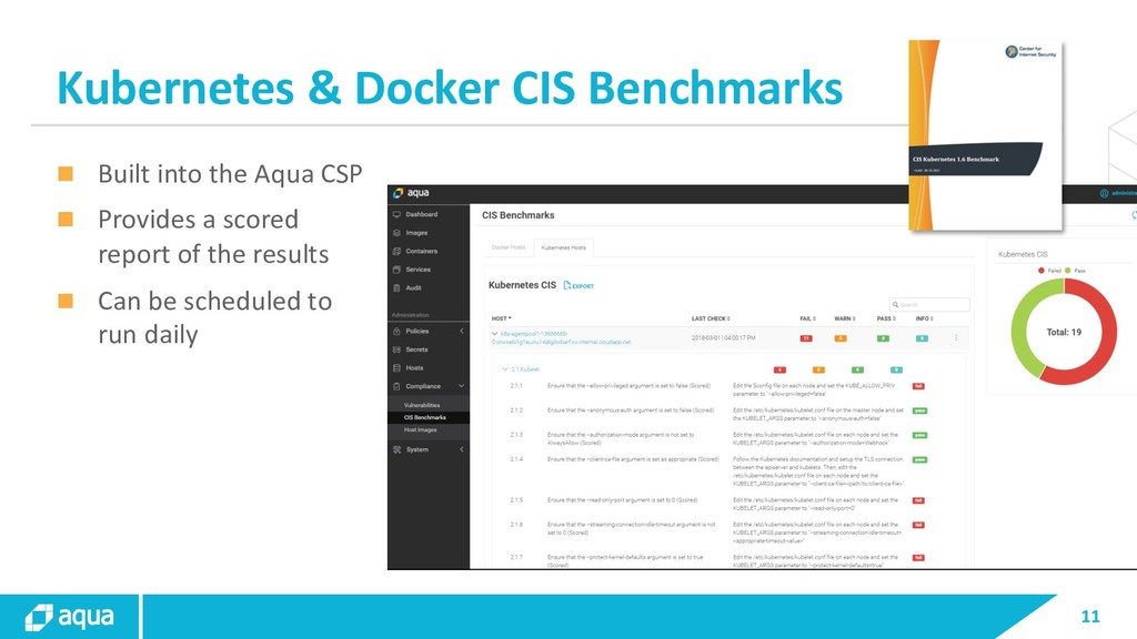 11 Kubernetes & Docker CIS Benchmarks n Built i...