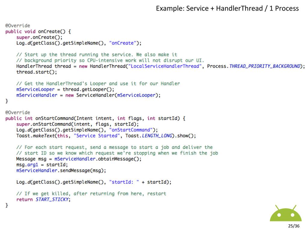 25/36  Example: Service + HandlerTh...