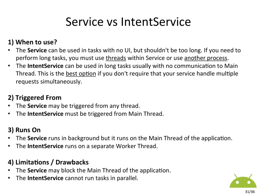 1) When to use?  • The Service...