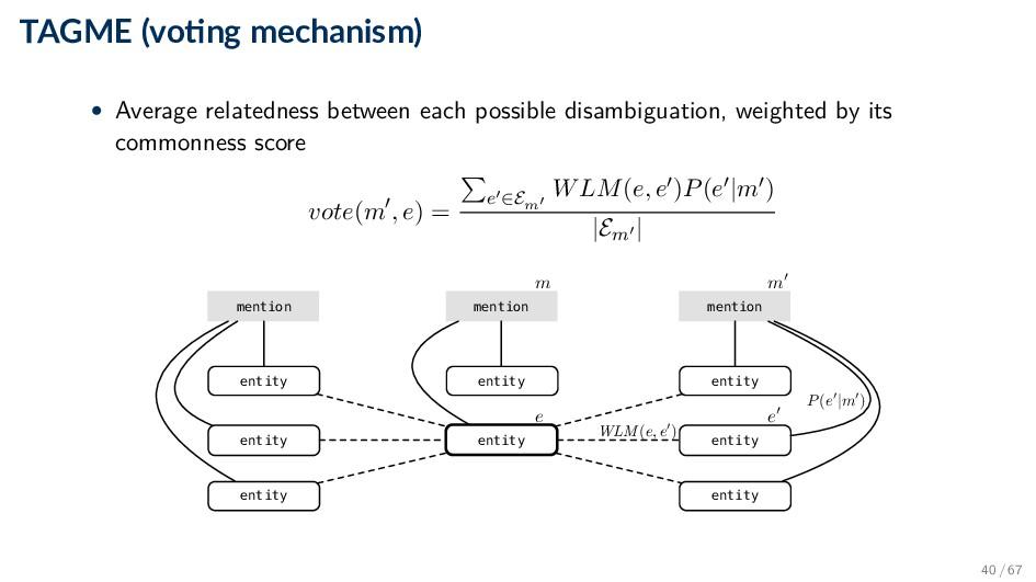TAGME (vo ng mechanism) • Average relatedness b...