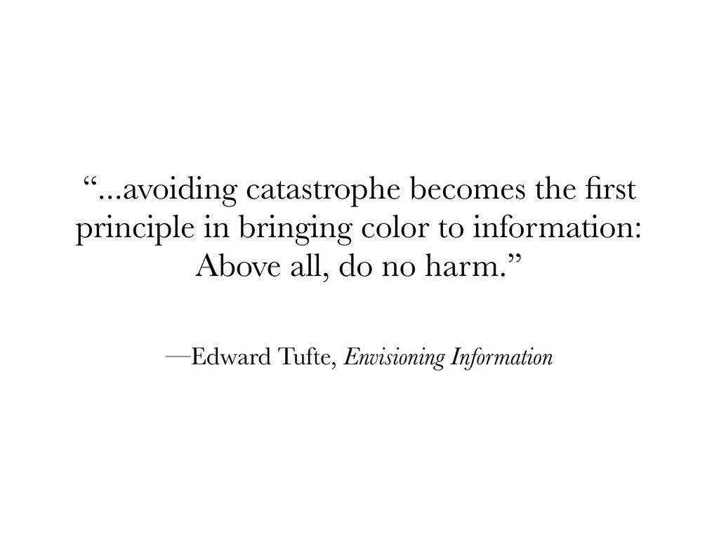 """...avoiding catastrophe becomes the first princ..."
