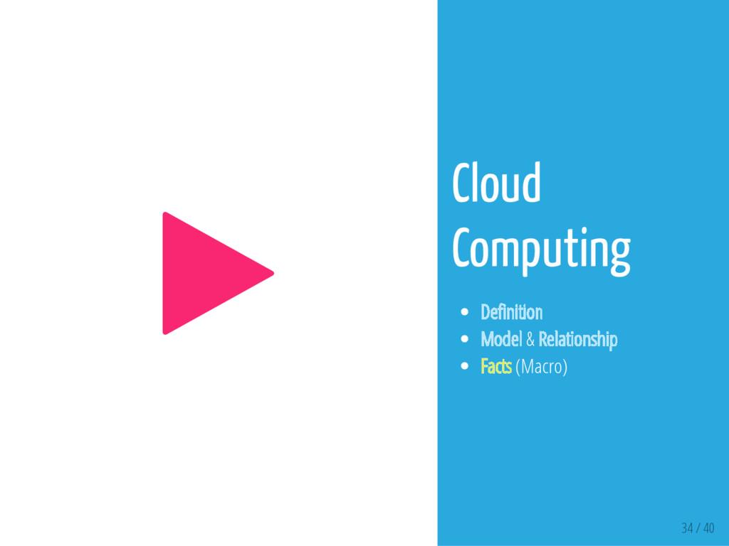 34 / 40  Cloud Computing De nition Model & Rel...