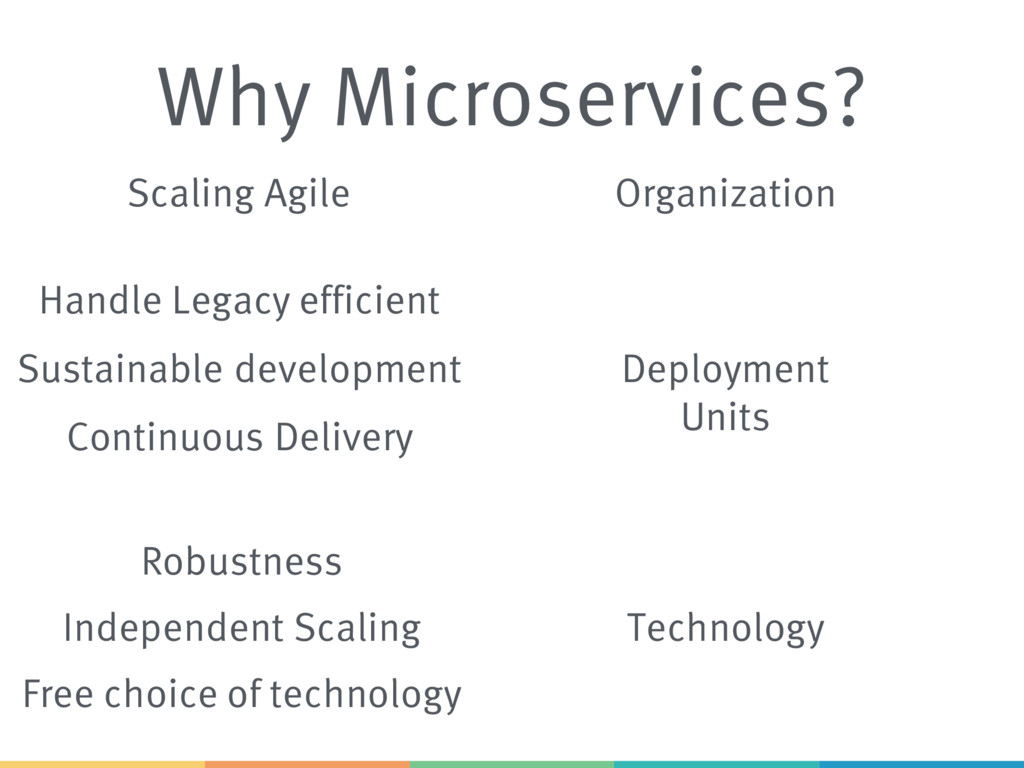 Why Microservices? Scaling Agile Sustainable de...