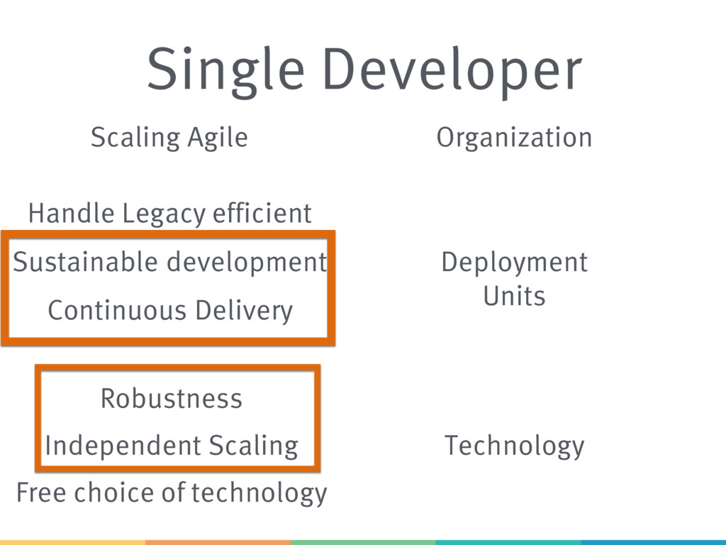 Single Developer Scaling Agile Sustainable deve...
