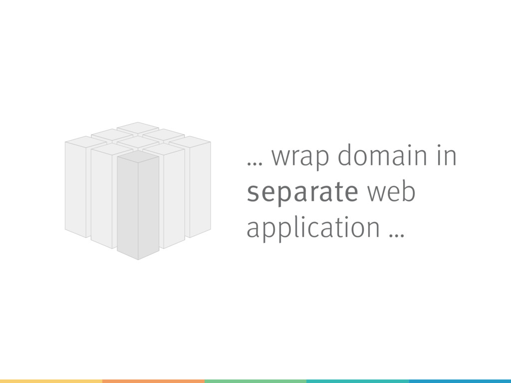 … wrap domain in separate web application …