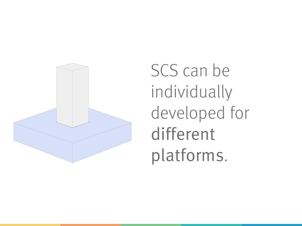 SCS can be individually developed for different...