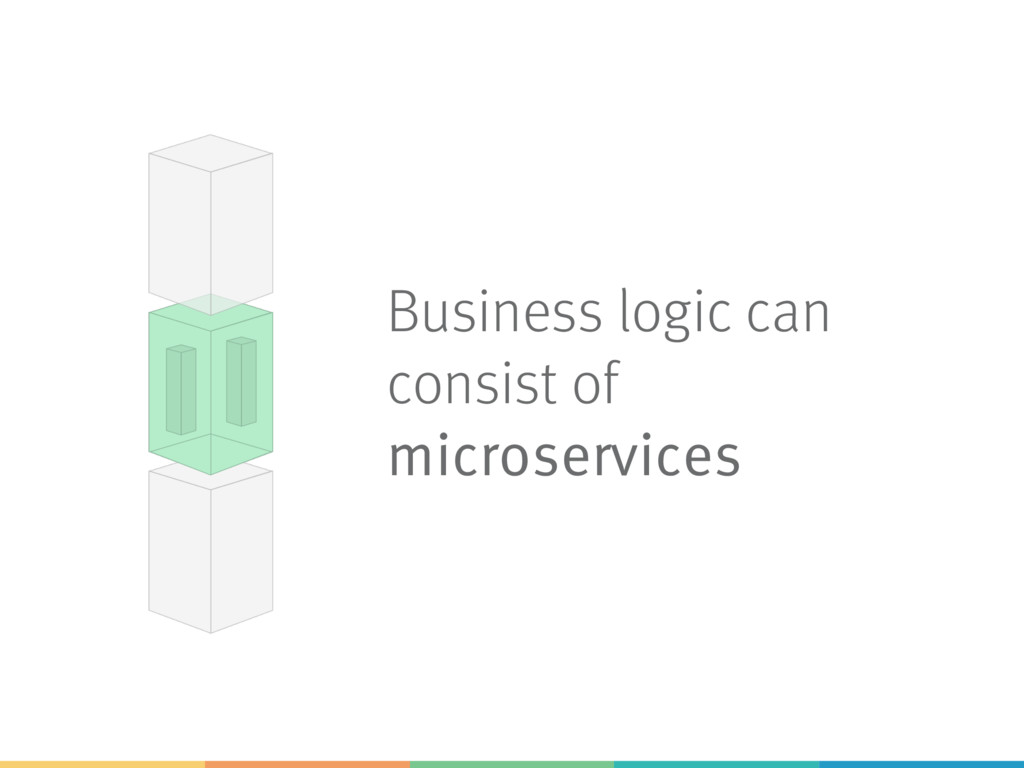 Business logic can consist of microservices