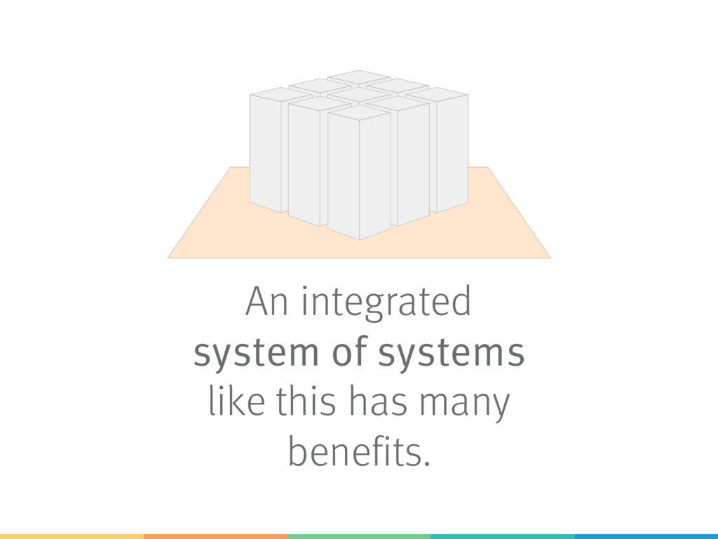 An integrated system of systems like this has m...