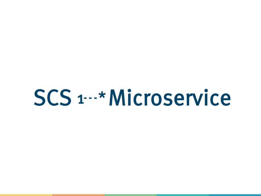 1 *Microservice SCS