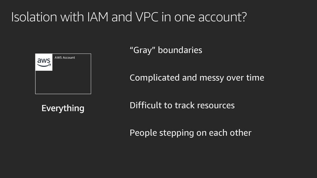 """Isolation with IAM and VPC in one account? """"Gra..."""