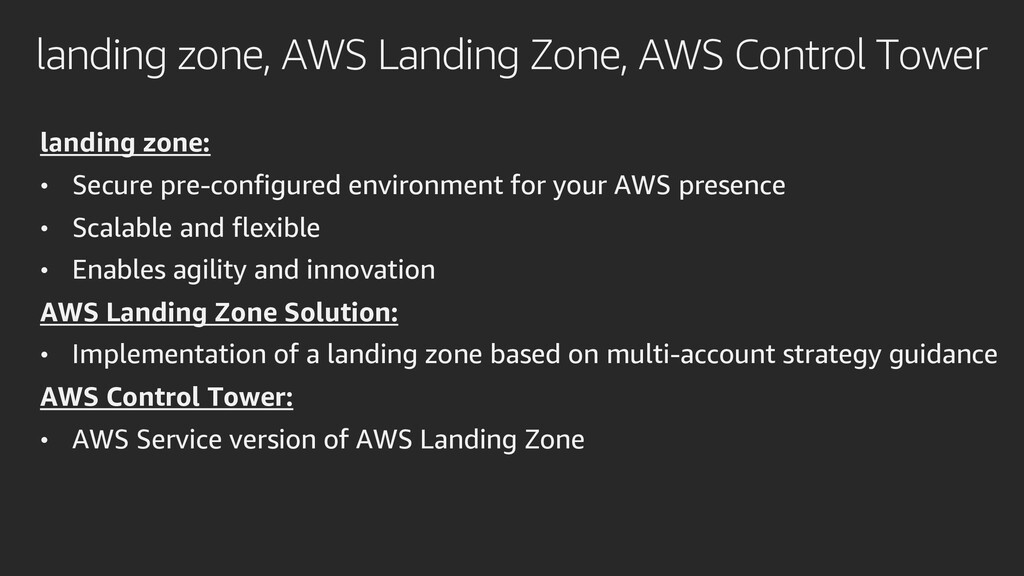 landing zone, AWS Landing Zone, AWS Control Tow...