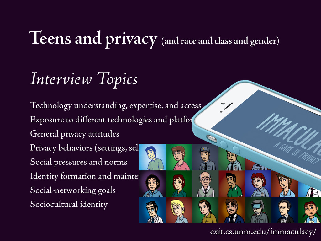 Teens and privacy (and race and class and gende...