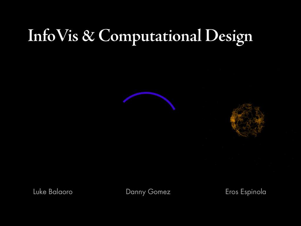 InfoVis & Computational Design Danny Gomez Eros...