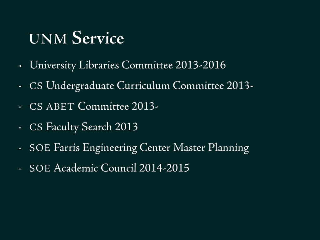 • University Libraries Committee 2013-2016 • CS...