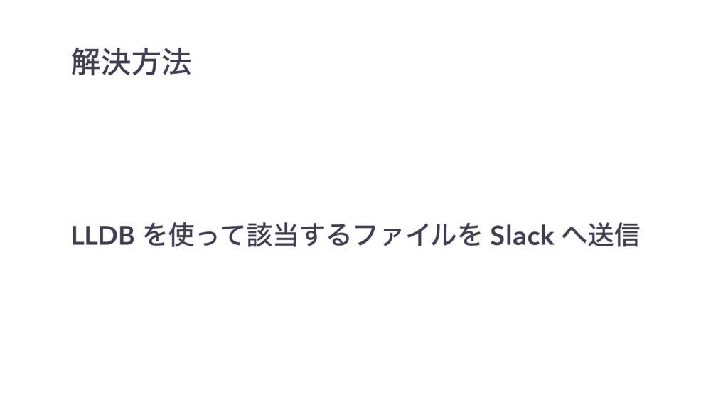 LLDB Λͬͯ֘͢ΔϑΝΠϧΛ Slack ૹ৴ ղܾํ๏