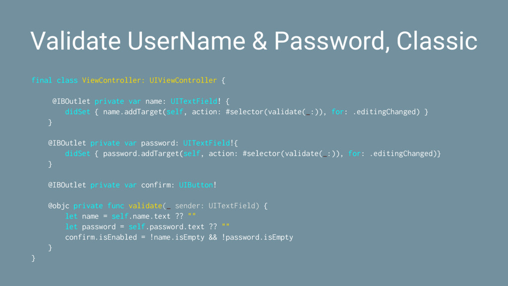 Validate UserName & Password, Classic final cla...