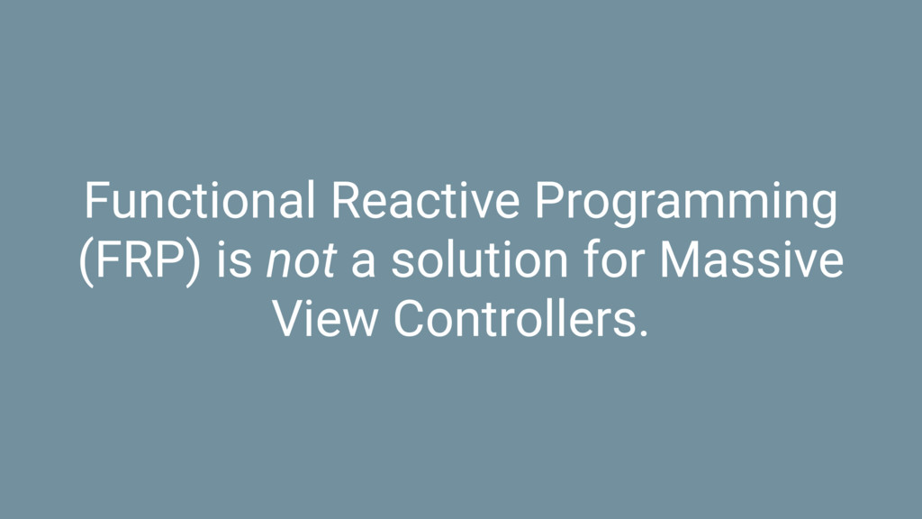 Functional Reactive Programming (FRP) is not a ...