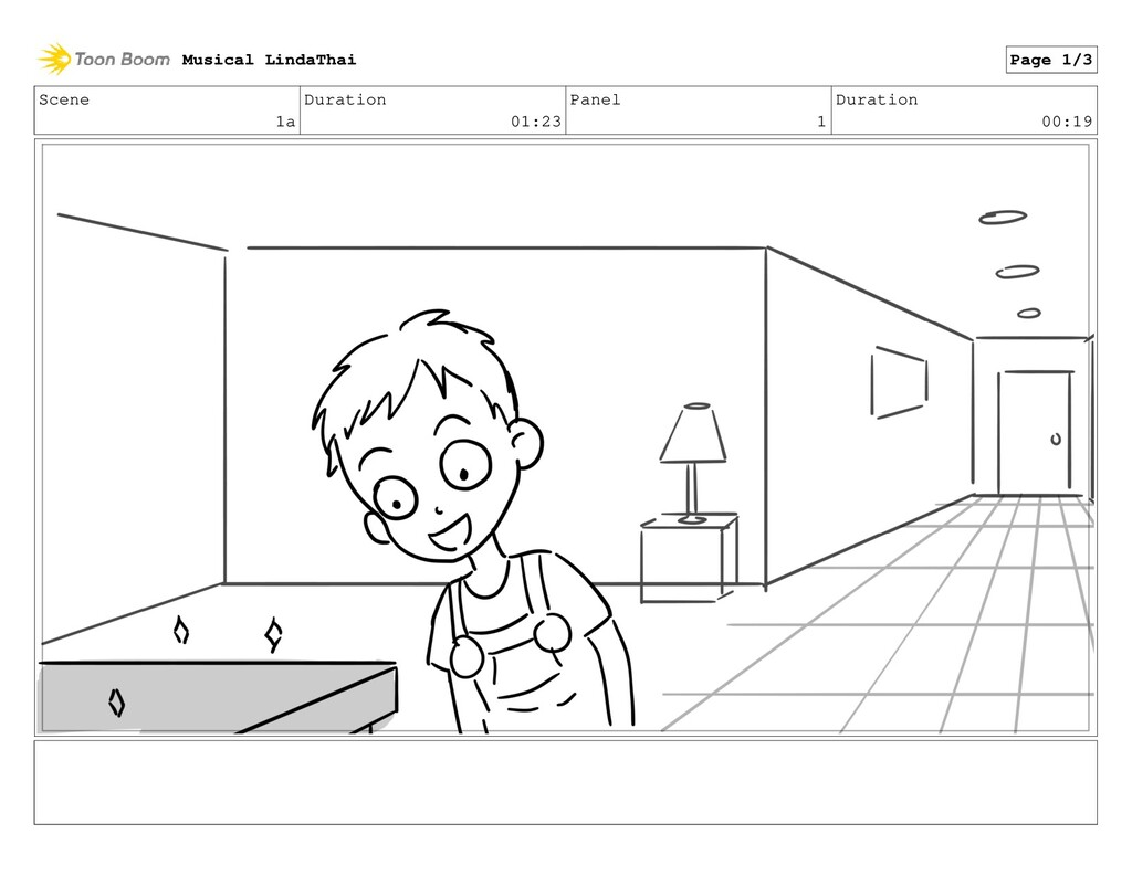 Scene 1a Duration 01:23 Panel 1 Duration 00:19 ...