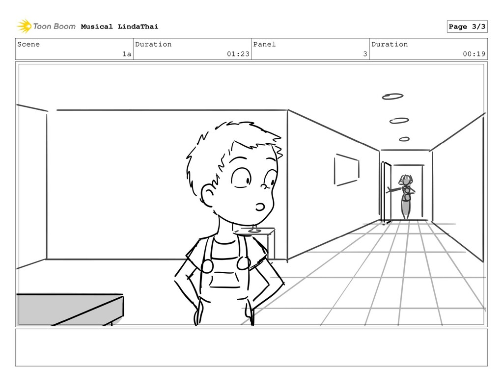 Scene 1a Duration 01:23 Panel 3 Duration 00:19 ...