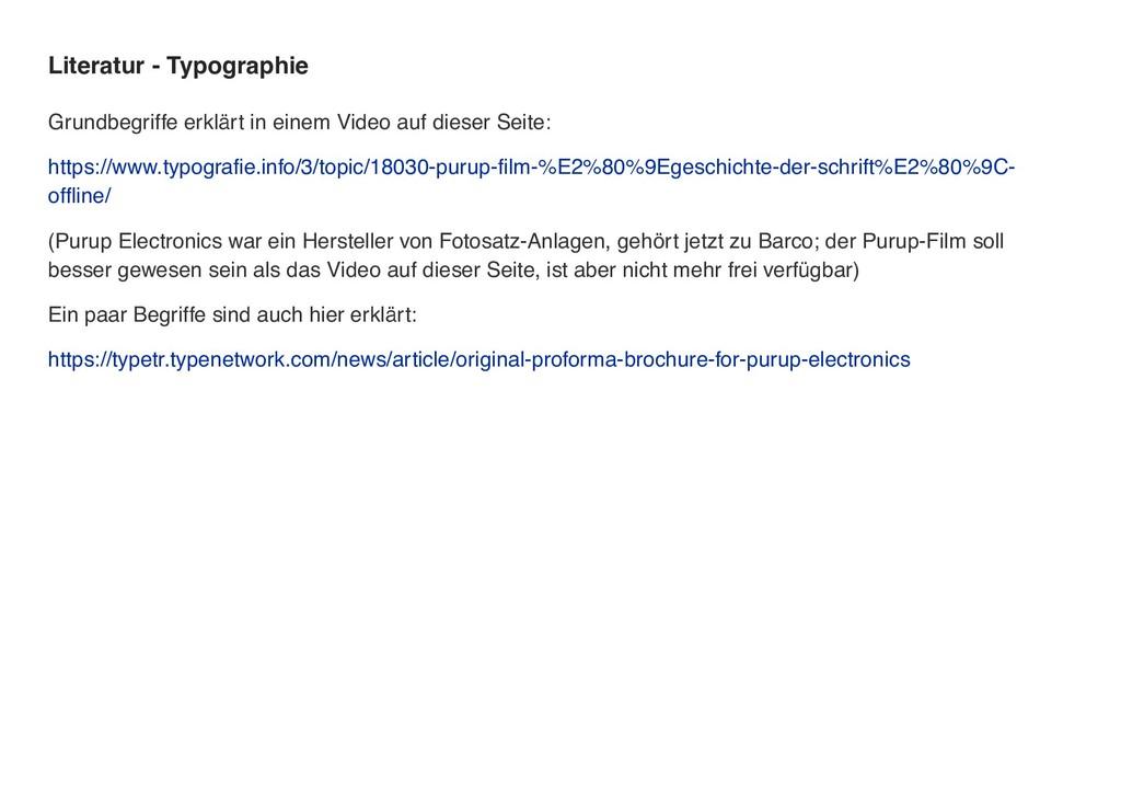 Literatur - Typographie Grundbegriffe erklärt i...