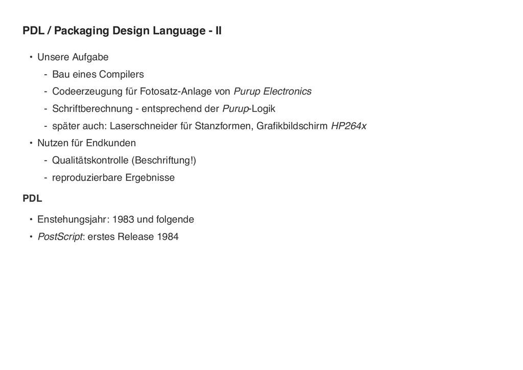 PDL / Packaging Design Language - II • Unsere A...
