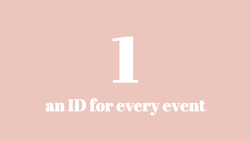 1 an ID for every event