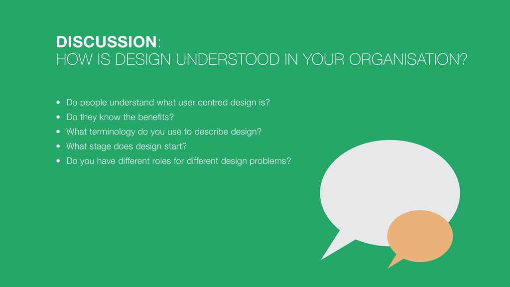 DISCUSSION:   HOW IS DESIGN UNDERSTOOD IN YOUR ...