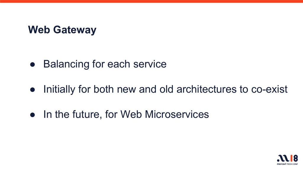 Web Gateway ● Balancing for each service ● Init...